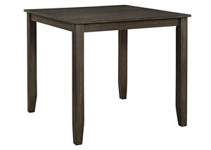 Dresbar Grayish Brown Square Dining Room Counter Table,Signature Design by Ashley