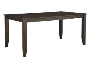 Dresbar Grayish Brown Rectangular Dining Room Table