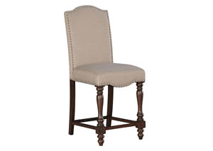 Baxenburg Brown Upholstered Barstool (Set of 2)
