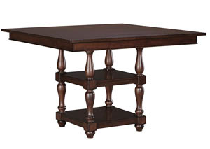 Baxenburg Brown Square Dining Room Counter Table