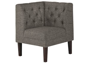 Tripton Medium Brown Corner Upholstered Bench