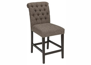 Tripton Medium Brown Upholstered Barstool (Set of 2)