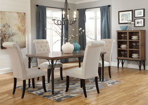 Tripton Rectangular Dining Table w/4 Side Chairs