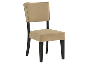 Gavelston Beige Dining Upholstered Side Chair (Set of 2),Signature Design by Ashley