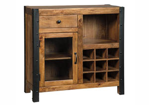 Glosco Brown Wine Cabinet,Signature Design By Ashley