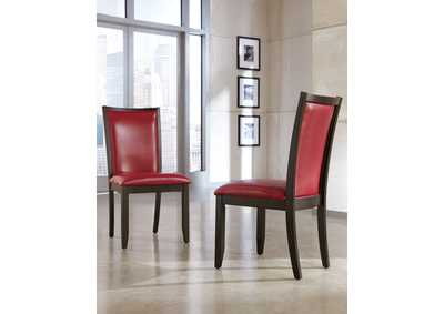 Trishelle Red Upholstered Side Chair (Set of 2),Ashley
