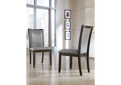Trishelle Gray Upholstered Side Chair (Set of 2)