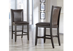 Trishelle Brown Upholstered Barstool (Set of 2),Ashley