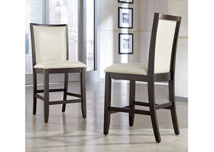 Trishelle Cream Upholstered Barstool (Set of 2),Ashley