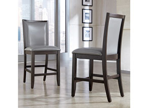 Trishelle Gray Upholstered Barstool (Set of 2),Ashley