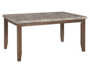 Narvilla Light Brown Rectangular Dining Room Table