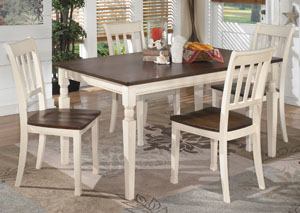 Whitesburg Rectangular Dining Table w/4 Side Chairs