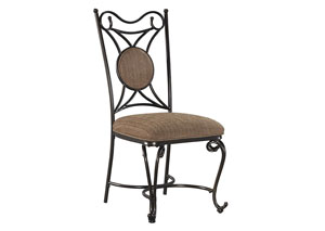 Brulind Brown Dining Upholstered Side Chair (Set of 4),Signature Design by Ashley