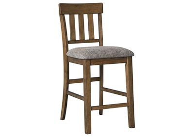 Flaybern Brown Upholstered Barstool (2/CN)