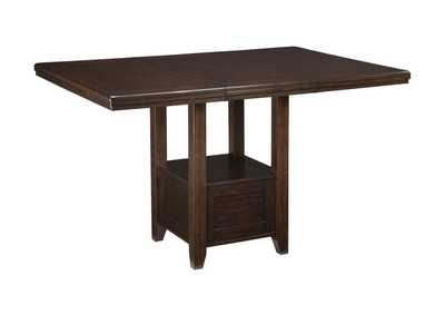 Haddigan Dark Brown Rectangular Counter Height Table