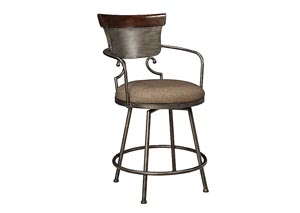 Moriann Upholstered Barstool,Signature Design by Ashley