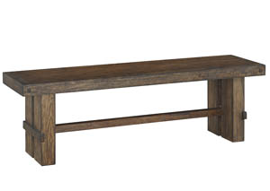 Leystone Dark Brown Large Dining Bench,Signature Design by Ashley