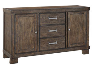 Leystone Dark Brown Dining Room Server
