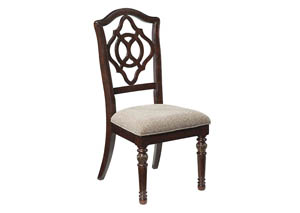 Leahlyn Reddish Brown Dining Upholstered Side Chair (Set of 2),Signature Design by Ashley