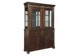 Leahlyn Reddish Brown Dining Room Buffet & Hutch,Signature Design By Ashley