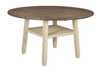 Bolanburg Antique White Round Drop Leaf Counter Height Table ...