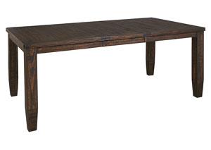 Trudell Golden Brown Rectangular Dining Room Extension Table
