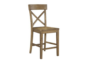 Trishley Light Brown Barstool (Set of 2)