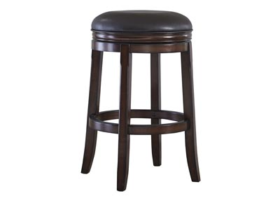 Porter Rustic Brown Tall Upholstered Swivel Stool (Set of 2)
