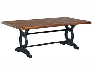 Zurani Brown/Black Rectangular Dining Room Table