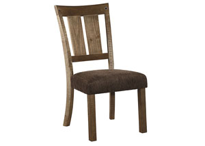 Tamilo Gray/Brown Dining Upholstery Side Chair (Set of 2)