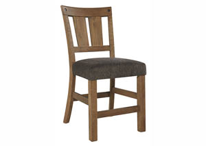 Tamilo Gray/Brown Upholstered Barstool (Set of 2)