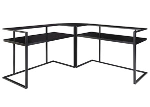 Laney Black Home Office Corner Desk