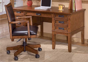 Cross Island Office Arm Chair w/Swivel/Adj Height
