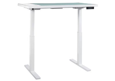 Baraga White Adjustable Height Desk,Signature Design by Ashley