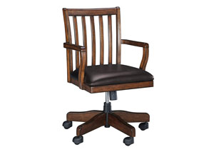 Woodboro Brown Home Office Swivel Desk Chair