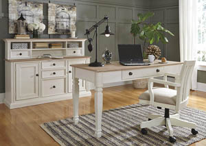 Sarvanny Two-tone Home Office Large Leg Desk w/Chair