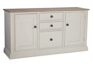 Sarvanny Two-tone Large Credenza,Signature Design By Ashley
