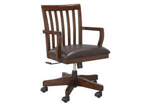 Wassner Dark Brown Home Office Swivel Desk Chair
