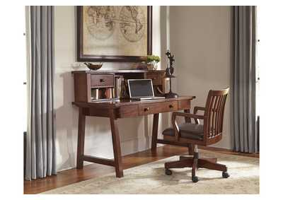 Wassner Dark Brown Home Office Large Leg Desk w/Hutch and Swivel Desk Chair,Signature Design by Ashley