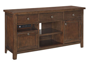 Wassner Dark Brown Large Credenza,Signature Design by Ashley
