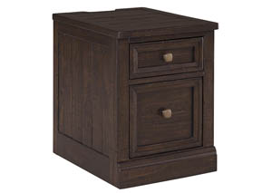 Townser Grayish Brown File Cabinet