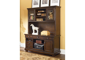 Porter Credenza & Tall Hutch,Signature Design by Ashley