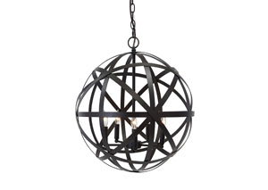 Antique Brass Finish Metal Pendant Light,Signature Design By Ashley