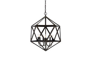 Bronze Finish Metal Pendant Light