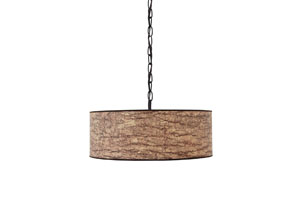 Light Brown Paper Pendant Light