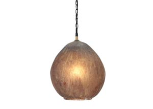 Fadey Brown Glass Pendant Light,Signature Design by Ashley