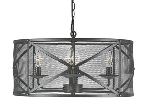 Jovani Charcoal Metal Pendant Light