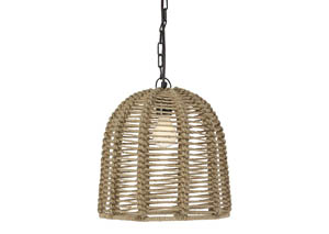Jamarion Natural Rope Pendant Light