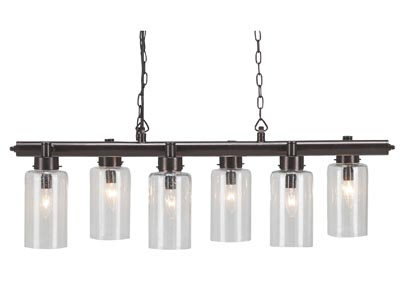 Felipe Clear/Bronze Finish Metal Pendant Light
