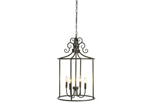 Jarah Antique Bronze Finish Metal Pendant Light